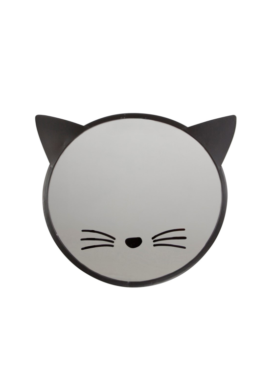 espejo con cara de gato