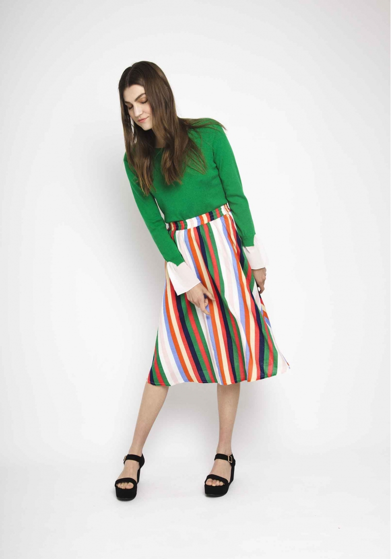 falda-rayas-verticales-multicolor