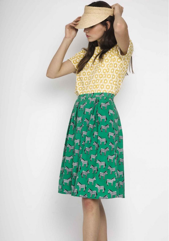 falda-verde-estampado-cebras