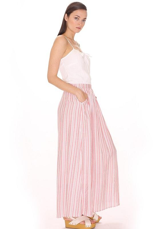 falda-larga-rayas-rojo