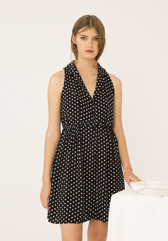 vestido-negro-topos-blancos-lamour