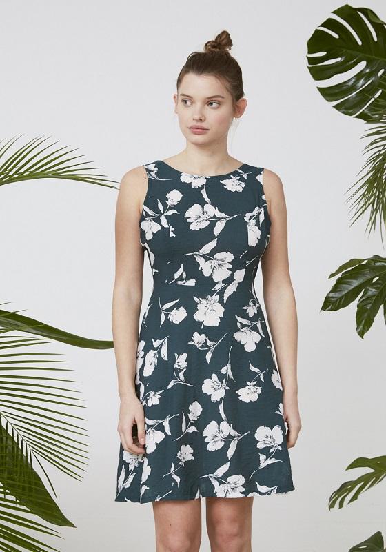 vestido-corto-verde-estampado-floral