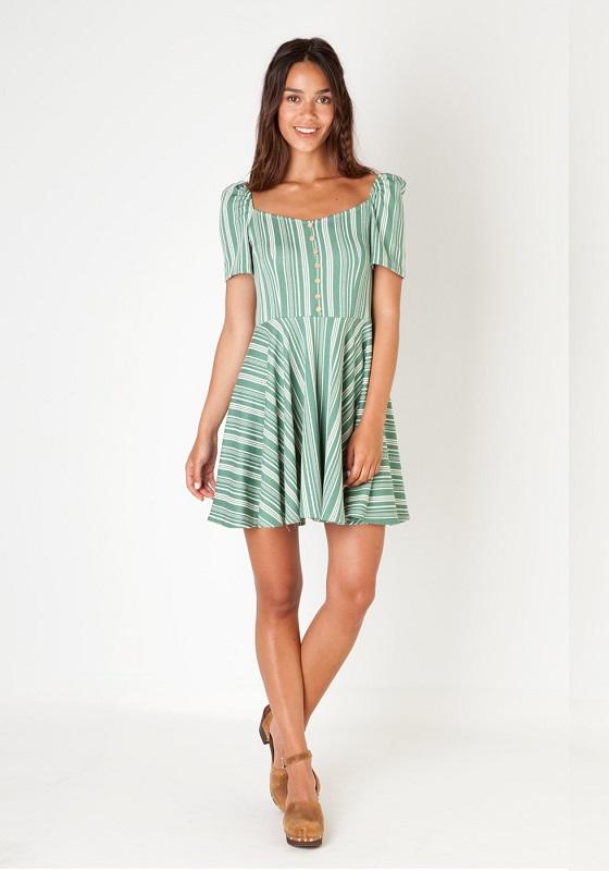 vestido-corto-rayas-verdes