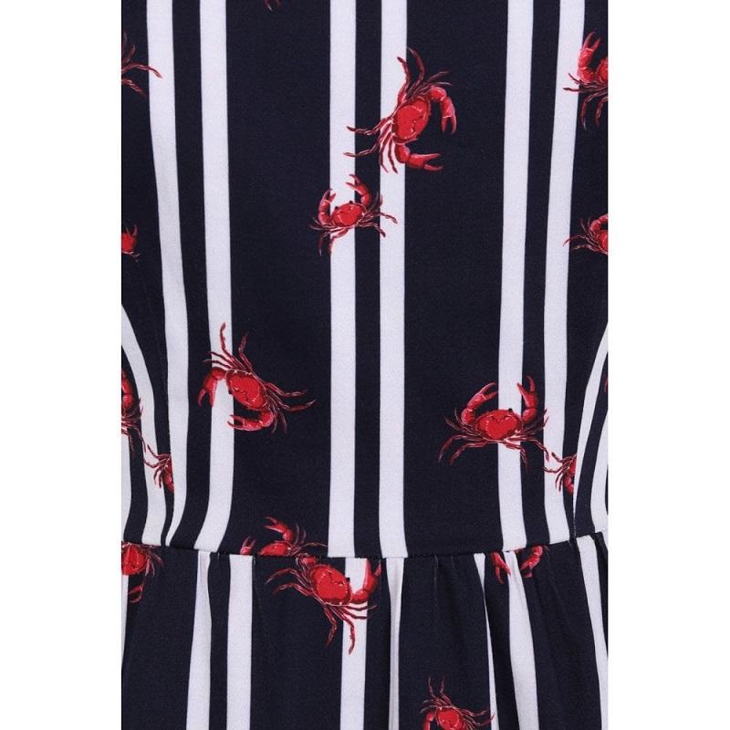 vestido-swing-estampado-rayas-cangrejos-ginevra