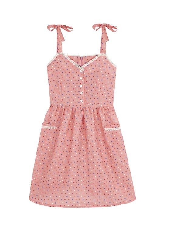 vestido-corto-rosa-lunares-colores-lupita
