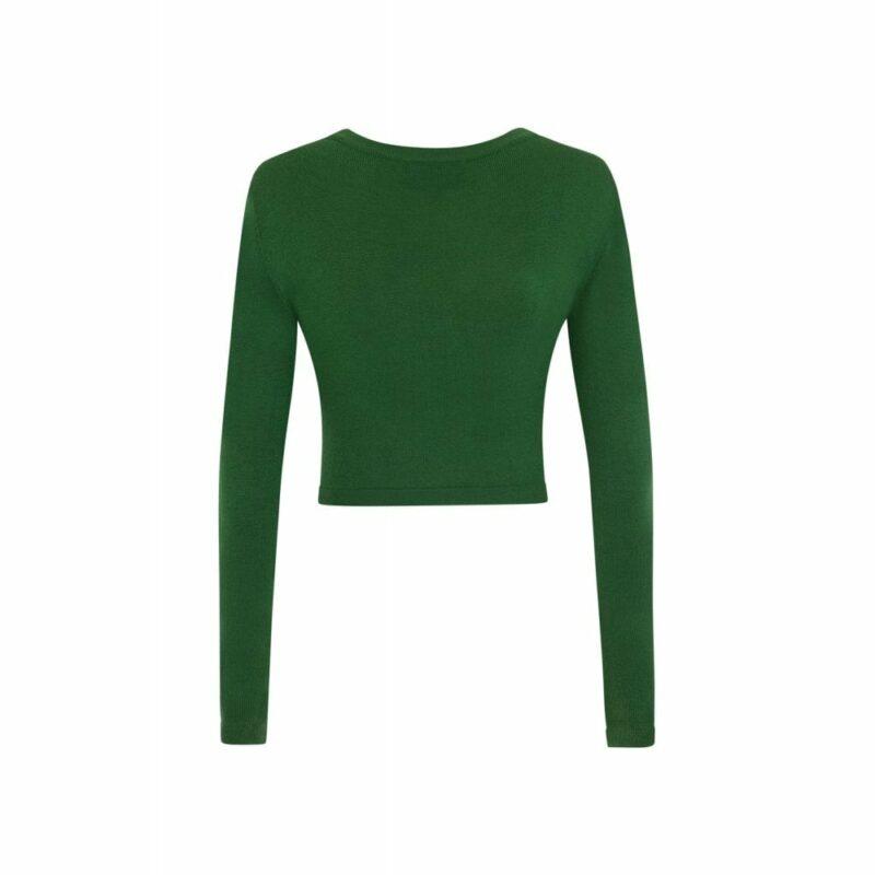 cardigan-ajustado-verde-escote-pico