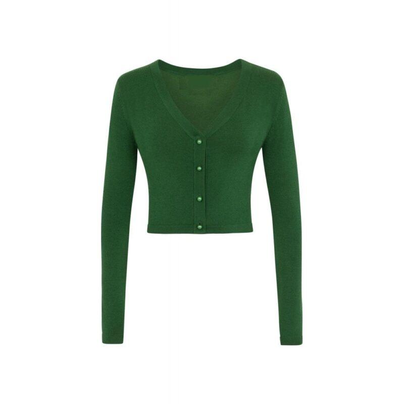 cardigan-verde-botones-redondos