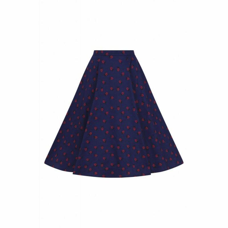 falda-acampanada-azul-estampado-mariquitas-swing