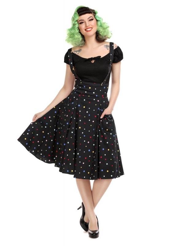 falda-tirantes-negro-estrellas-multicolor
