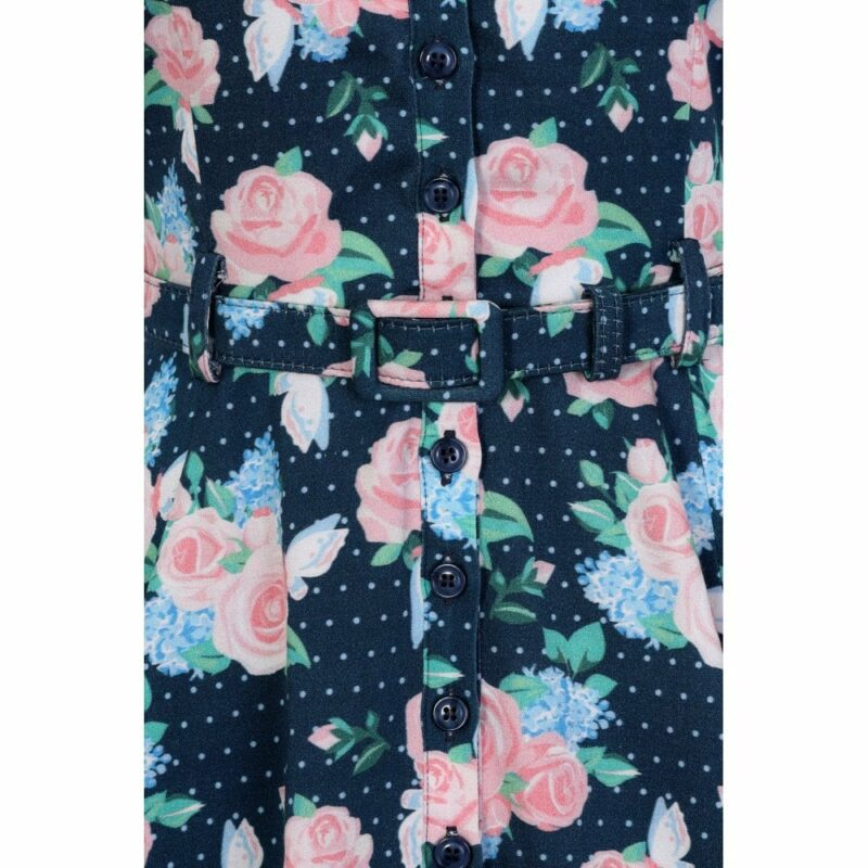 vestido-azul-flores-rosas-camisero