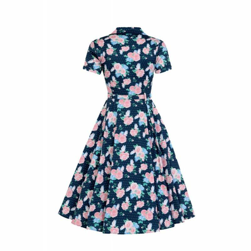 vestido-azul-flores-rosas-pin-up