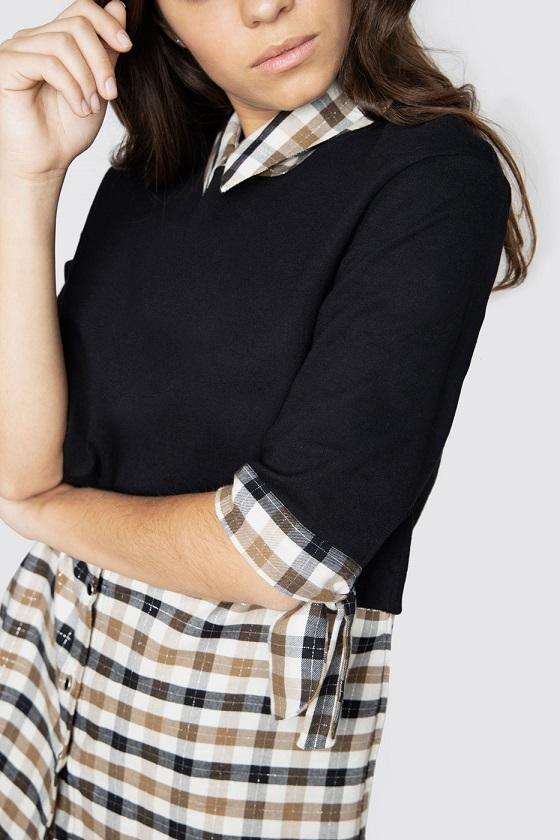 vestido-combi-sudadera-negra-maxi-camisa