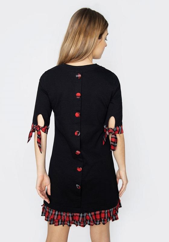 vestido-corto-botones-espalda