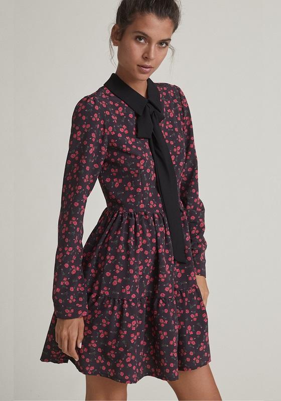 vestido-corto-estampado-rosas-cuello-solapa