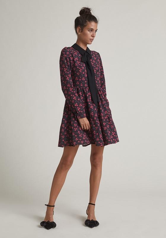 vestido-estampado-rosas-lazo-cuello