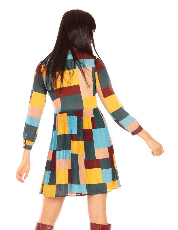 vestido-patchwork-cuadros-colores