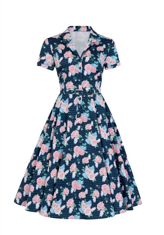 vestido-pin-up-camisero-azul-estampado-rosas