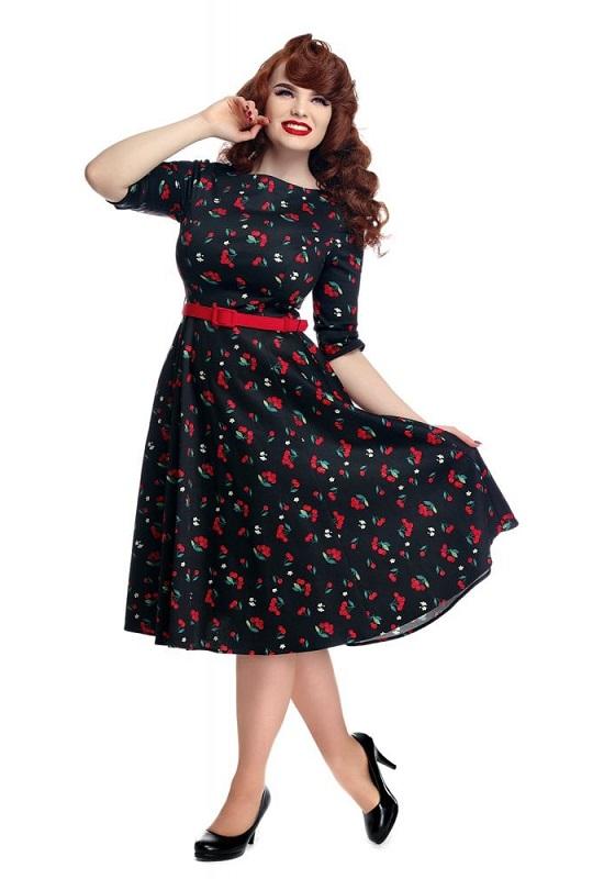 vestido-pin-up-cerezas-mangas-francesas