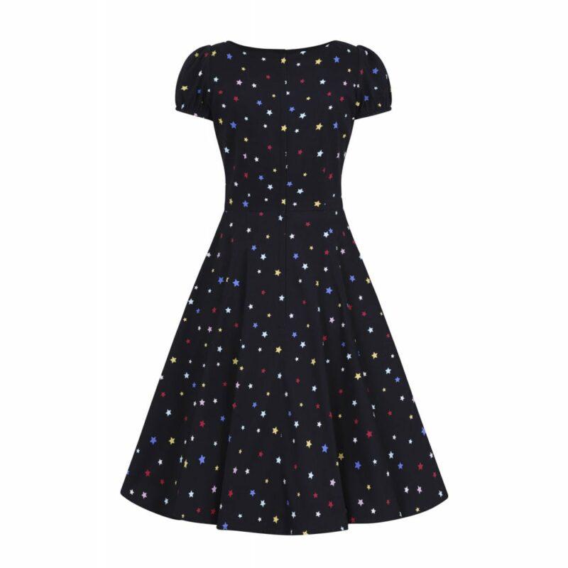 vestido-pin-up-negro-estrellas-mangas-cortas