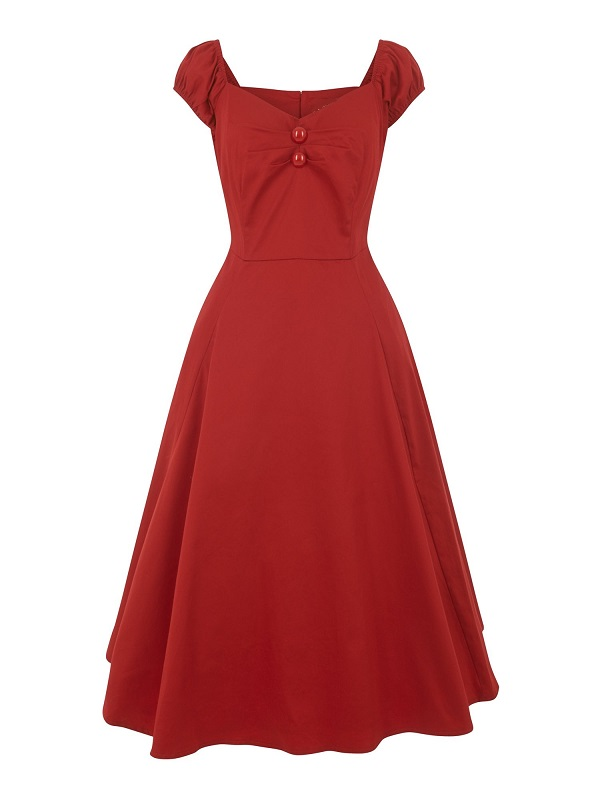 vestido-pin-up-rojo-escote-corazon
