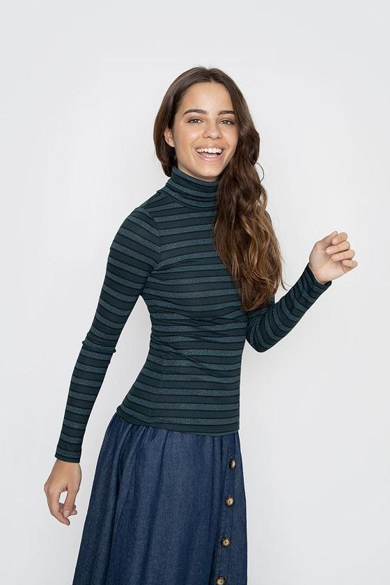jersey-cuello-alto-rayas-verdes
