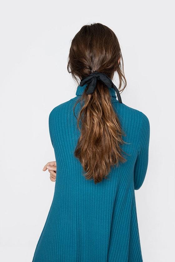 vestido-azul-cuello-alto