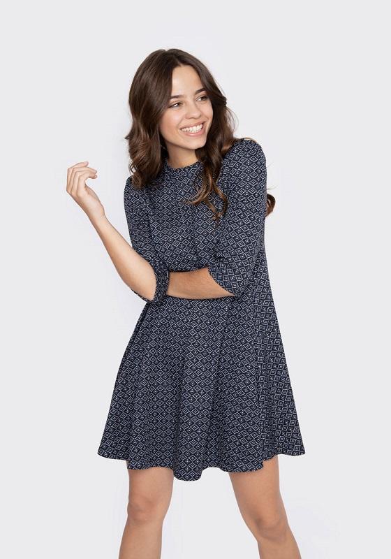 vestido-corto-azul-mangas-cortas