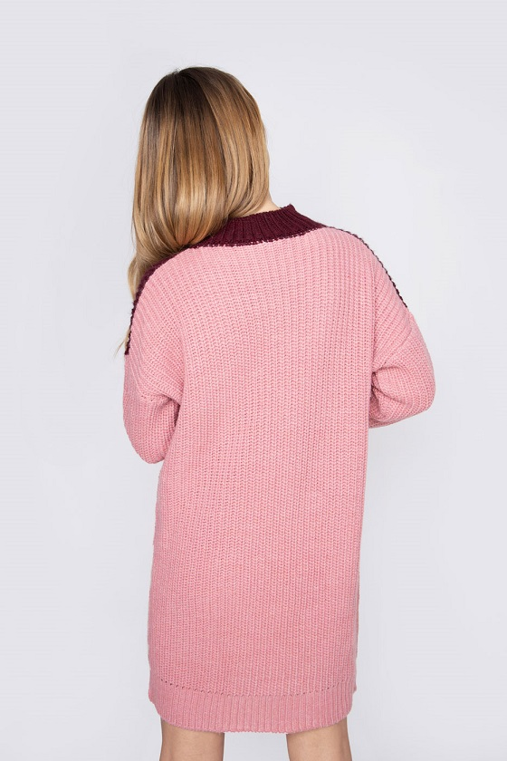 vestido-corto-punto-rosa
