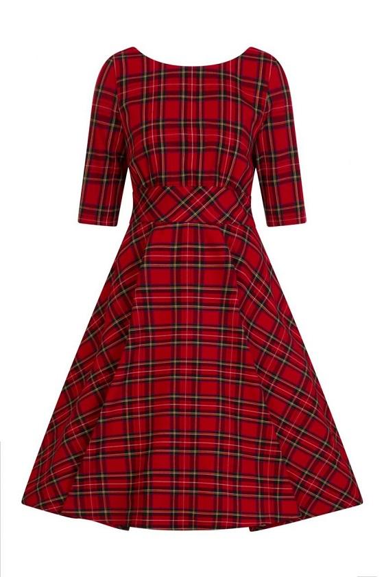 vestido-cuadros-rojo-vintage