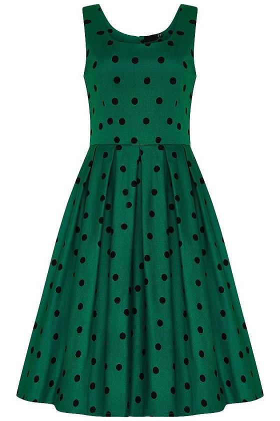 vestido-jackie-verde-topos-negros-retro