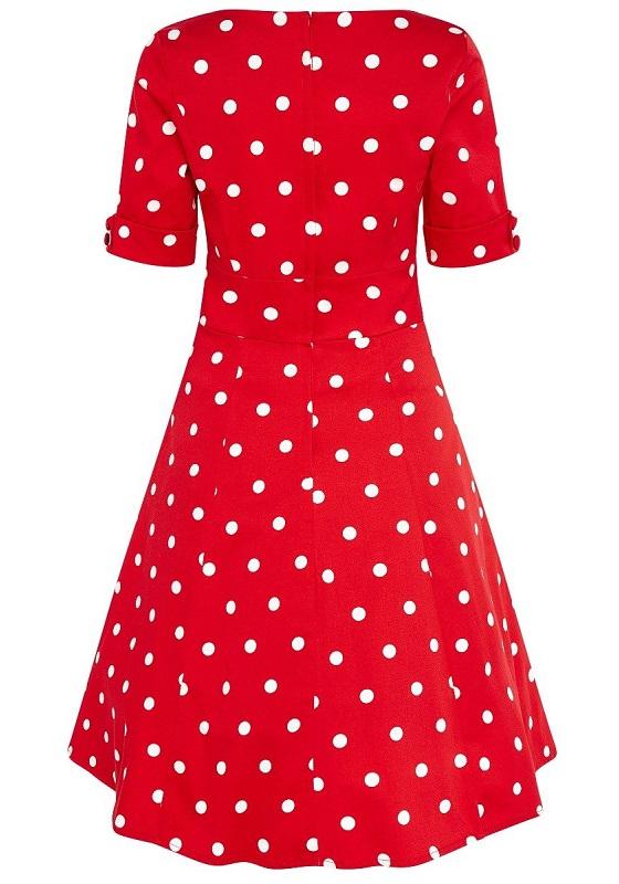 vestido-rojo-topos-blancos-pin-up