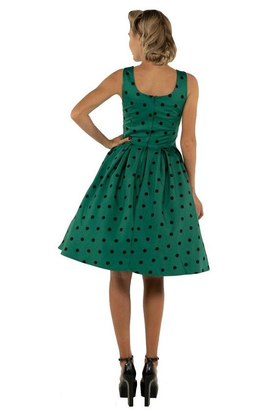vestido-verde-lunares-negro-retro-pinup
