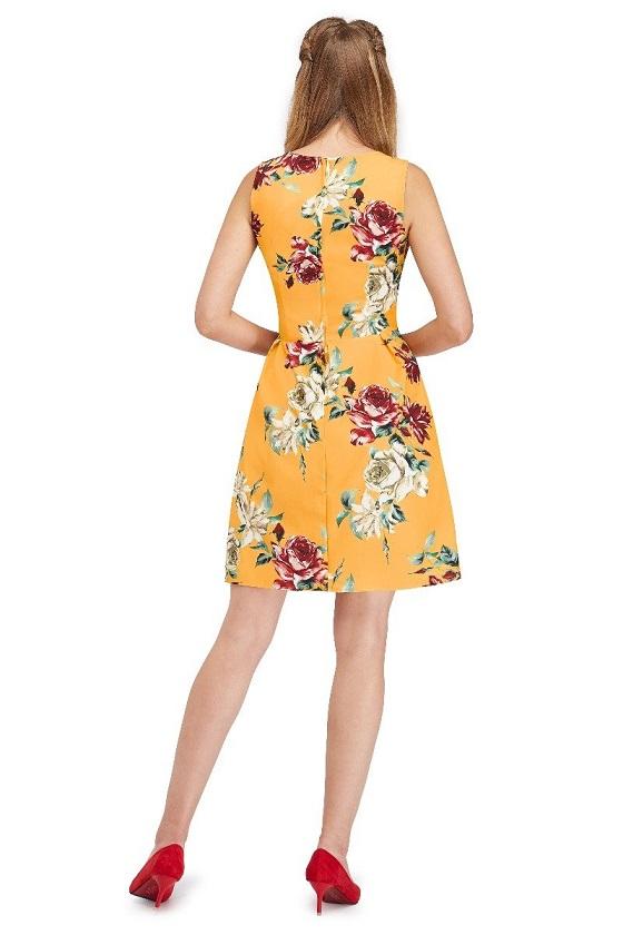 vestido-vintage-amarillo-estampado-floral