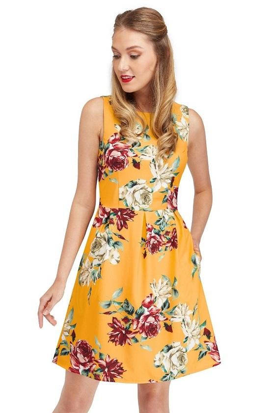 vestido-vintage-amarillo-sin-mangas