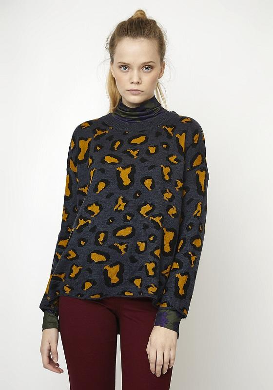 jersey-gris-estampado-leopardo-mostaza