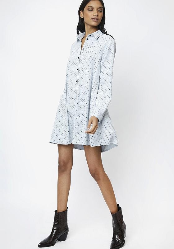 vestido-camisero-azul-lunares-negros