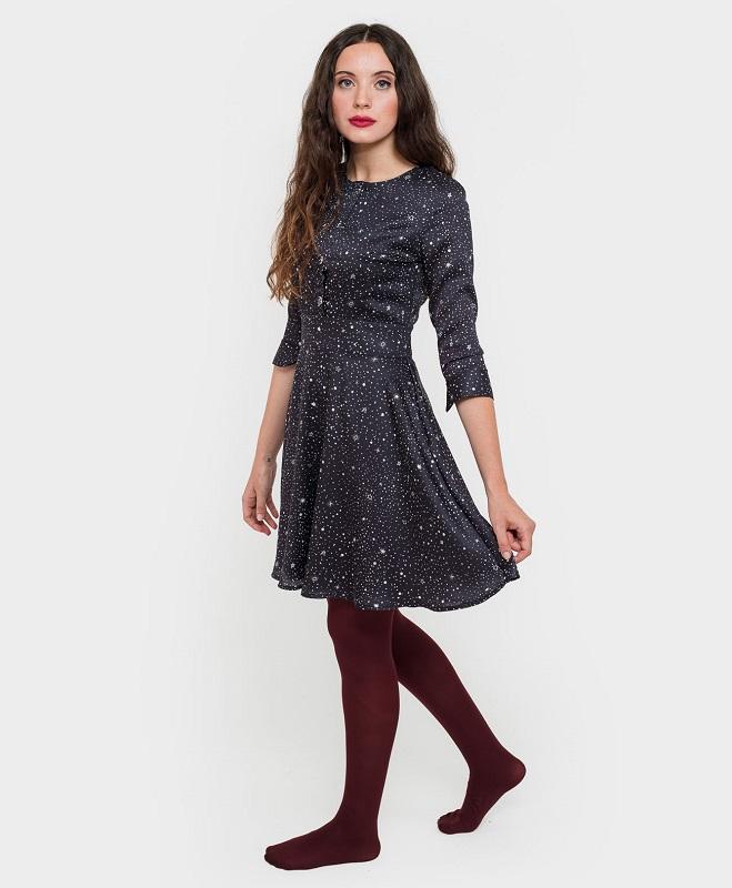 vestido-corto-azul-estampado-estrellas