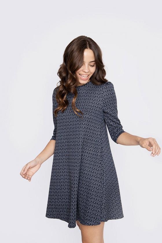 vestido-corto-estampado-azul