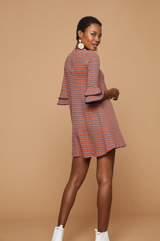 vestido-corto-canale-rayas