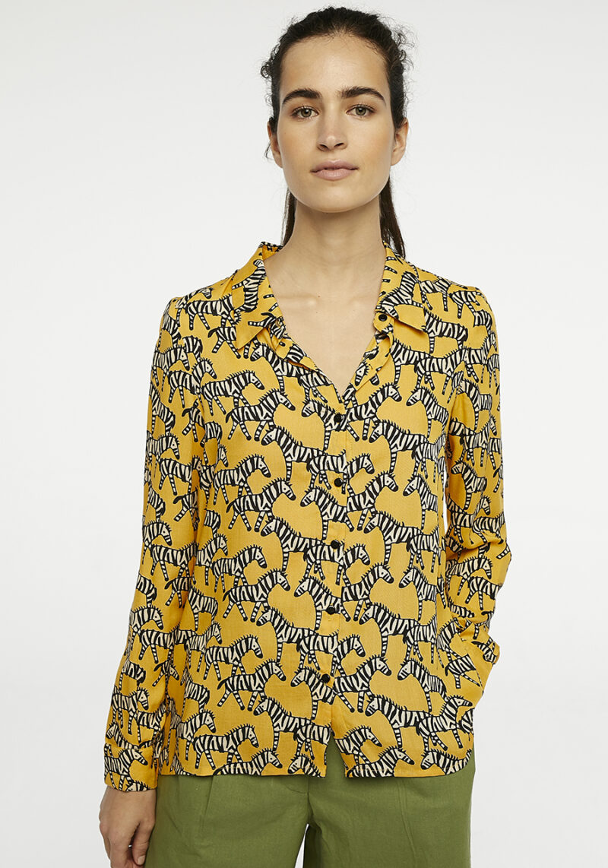 camisa-estampado-cebras-amarillo