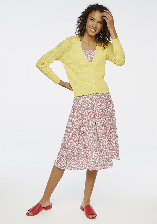 chaqueta-ochos-amarillo-mangas-largas