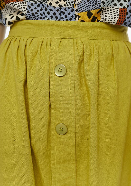 falda-abotonada-verde