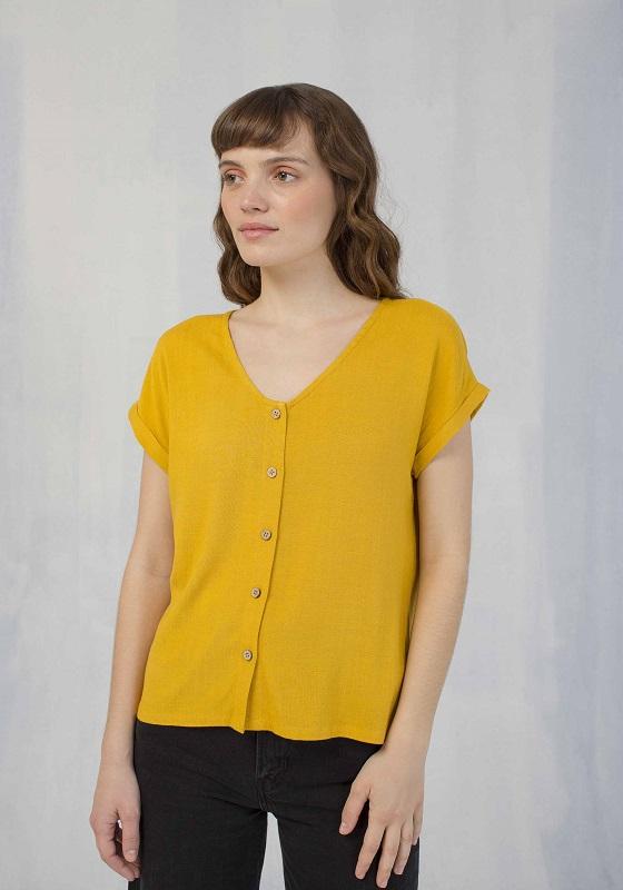 camisa-botones-mostaza