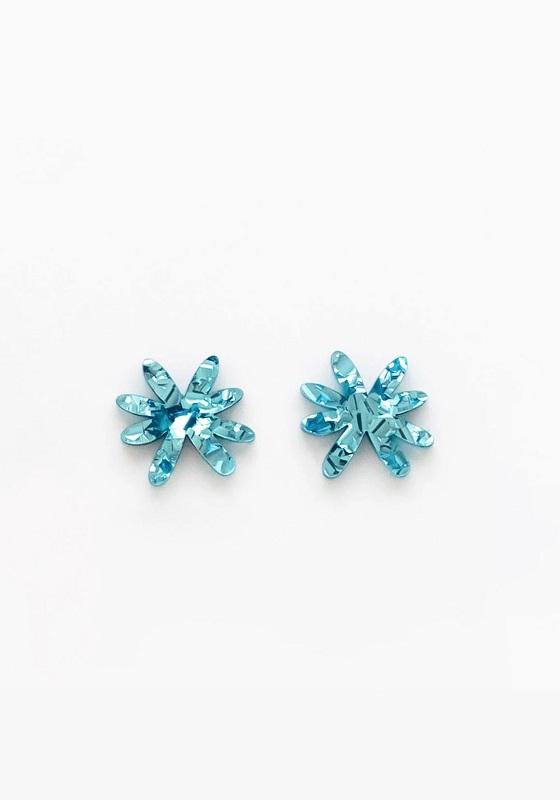 pendientes-metacrilato-flor-azul-brillante