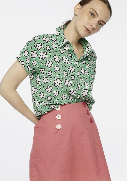camisa-verde-mangas-cortas