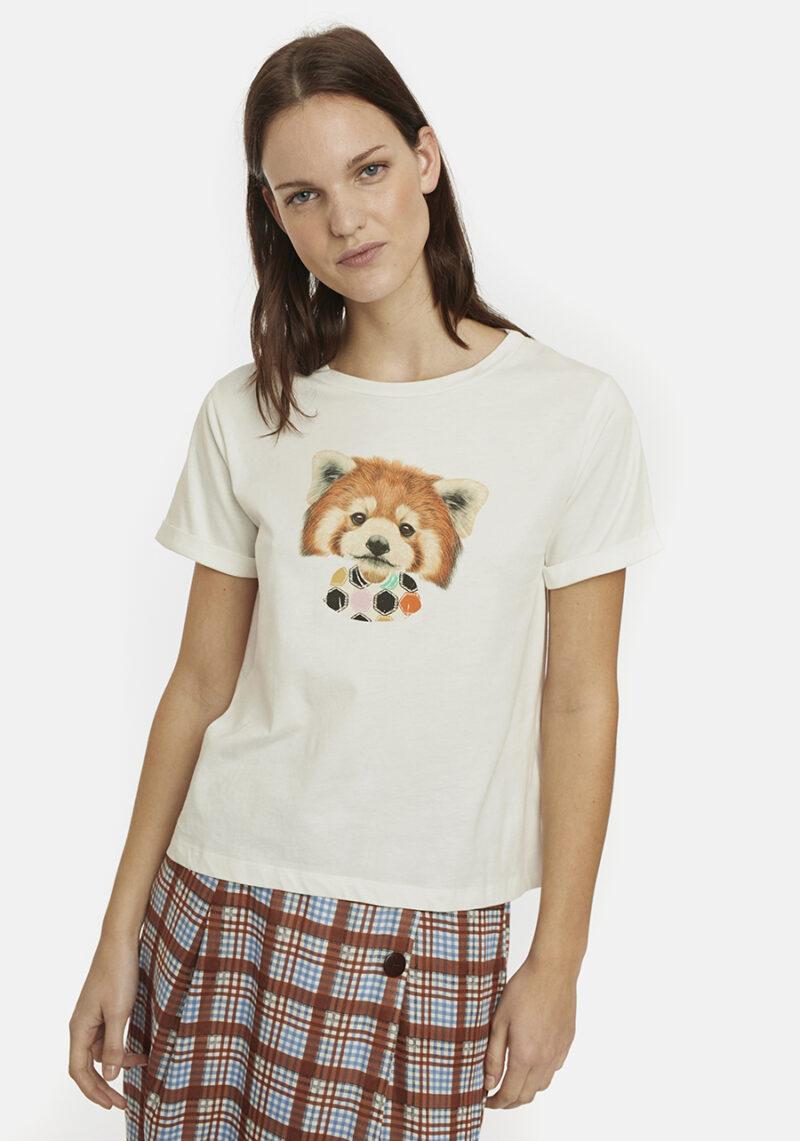 camiseta-blanca-dibujo-zorro