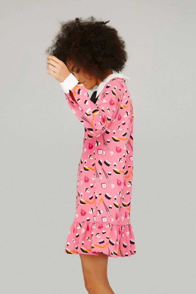 vestido-rosa-estampado-sushi