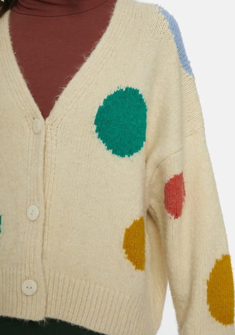 cardigan-beige-topos-grandes-colores