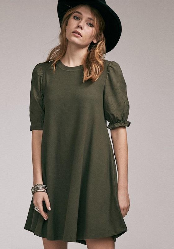 vestido-corto-verde-caqui-valeria
