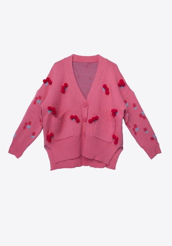 cardigan-rosa-cerezas-pompones